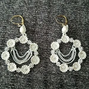 Jessica Simpson floral earrings